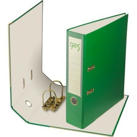 Biblioraft A4, PP, 75 mm, verde